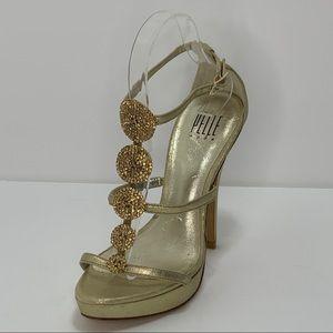 Pelle Moda High Heels Platform Jeweled